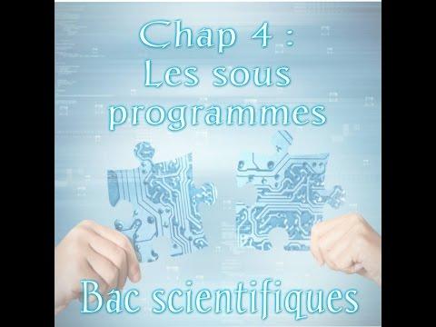 01_Les sous programmes (introduction)