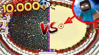 10.000 NOOBS VS HEROBRINE 😱 MINECRAFT ROLEPLAY COLISEO #3