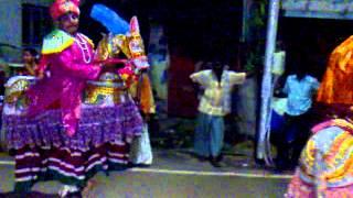 20140810258 Shri Bhavaani Amman Temple, Kolathur,Aadi Festival-Stilt Horse Dance karakattam