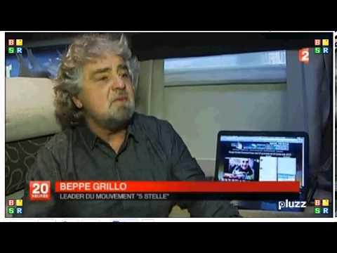05/02/13 Beppe Grillo al Telegiornale Francese
