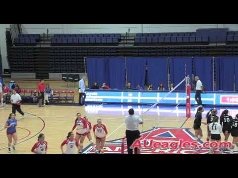 American Volleyball Sweeps Loyola (Md.) in Conference Home Opener