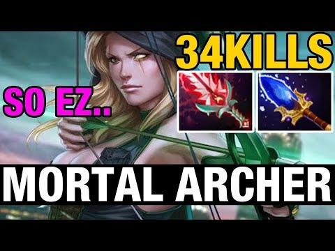 MORTAL ARCHER - 34 KILLS - Draskyl Plays Windranger - Dota 2