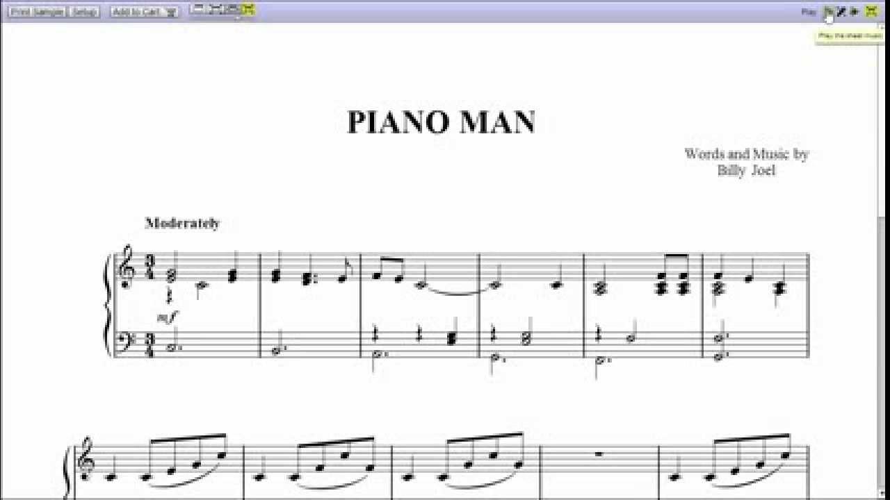 Harmonica chords piano man
