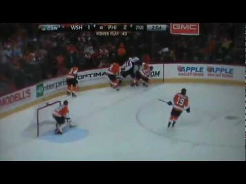 Washington Capitals Vs Philadelphia Flyers - Full Game 2nd Period 3/31/13