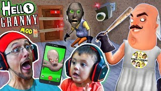 HELLO GRANNY!! a Hello Neighbor Granny's House Mod Mini-Game! Baybee Slendrina FaceTimes FGTEEV!