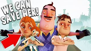 WE CAN SAVE HIS DAUGHTER! (New Ending) | Hello Neighbor Hide & Seek Gameplay