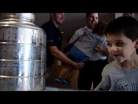 John Madden brings Stanley Cup to Saint Barnabas Medical Center...