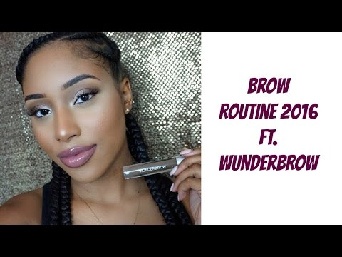 Brow Routine 2016 WunderBrow Review