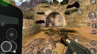 Playing Counter-Strike On Android. Touch control settings & gameplay on the Dust_2 and awp_india.