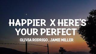 Download lagu happier x Here's Your Perfect (Lyrics) i hope u happy