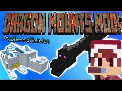 Minecraft: DRAGON MOUNTS MOD (Ice. Nether. Fire. Water. Ghost. Ether. Ender) - MyDiamondSkeleton!