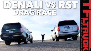 Which 6.2L GM Truck Is Faster? Chevy Tahoe RST vs GMC Yukon Drag Race
