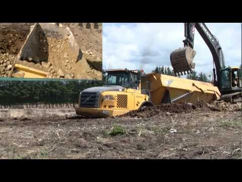 Digging Out The Stuck Volvo A30E Dumper