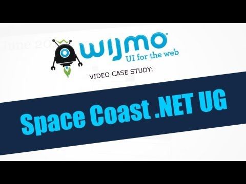 Wijmo Video Case Study: Space Coast .NET User Group