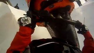 Pabersematao! Snowmobile accident moto nieve fail