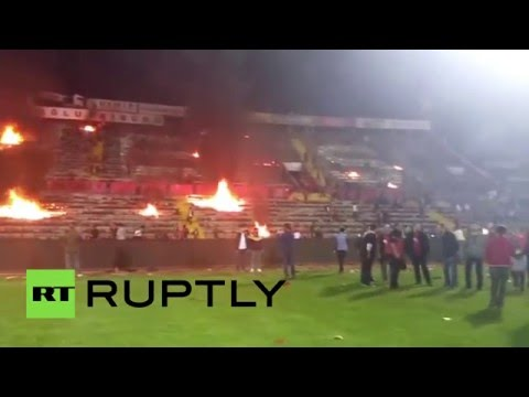 Bad Losers burn: Turkish football fans set fire to home stadium, at least 3 injured