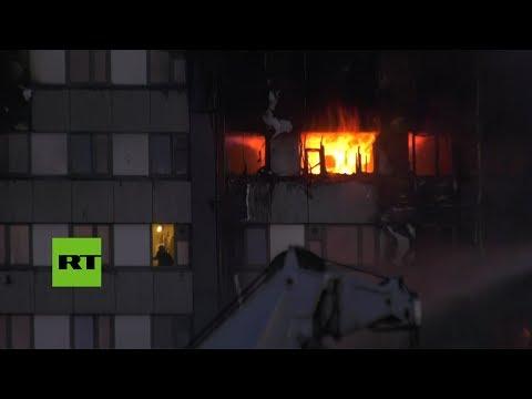 Personas atrapadas en un edificio en llamas: Dramático incendio en Londres