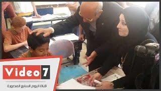 بالفيديوتلميذ ابتدائى يشكو للقائم بأعمال محافظ القاهرة الكلمة دى ماخدنهاش أصلا فى المنهج
