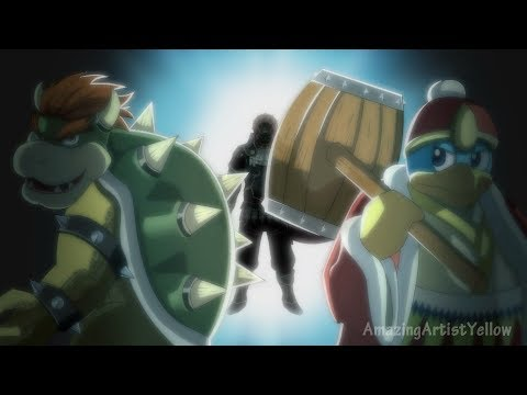 Super Smash Bros x 進撃の巨人Attack on Titan Opening 2 【Hand Drawn】