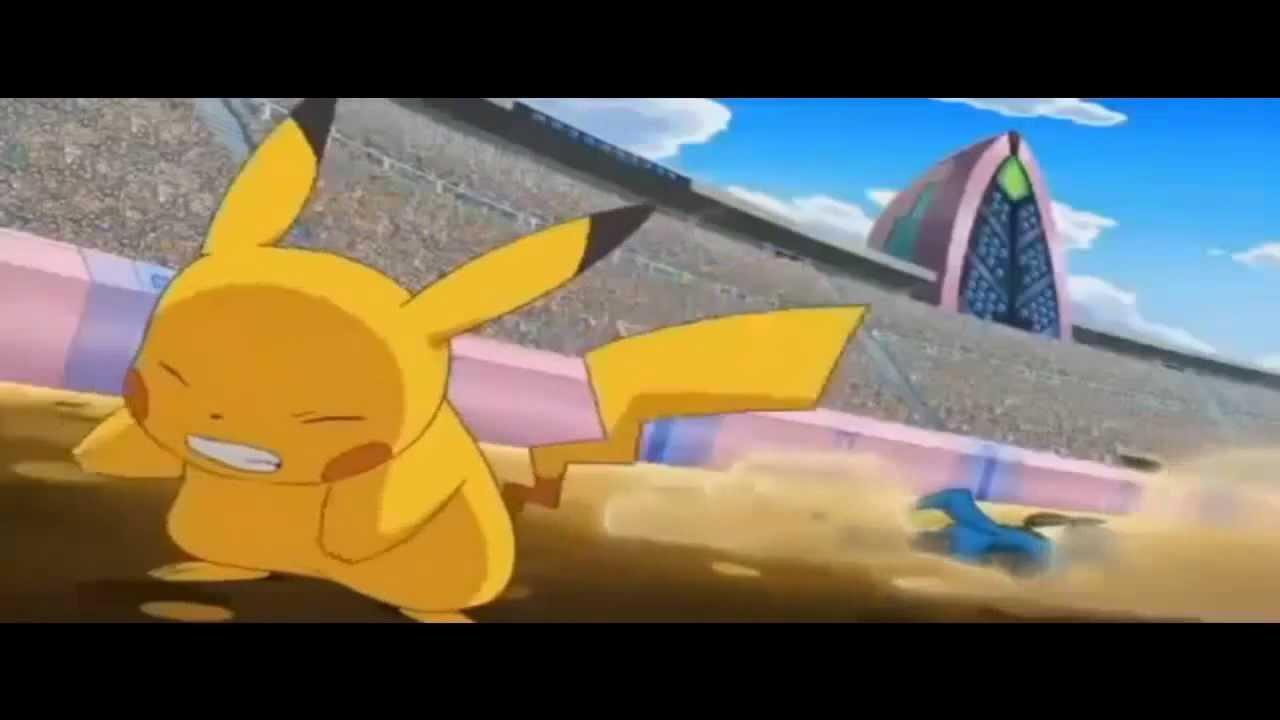 Pok 233 Mon Best Wishes Pikachu Vs Lucario Unova League