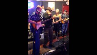 Paul Skirvin, jamming with Mona Skirvin and the rest of Bigg Country