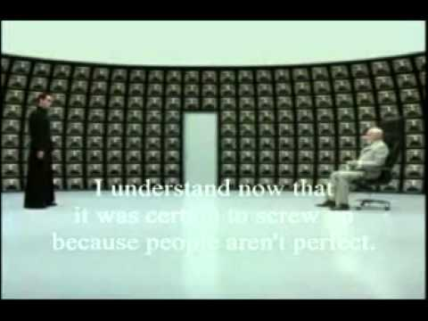The architect neo matrix reloaded youtube for Matrix reloaded architect