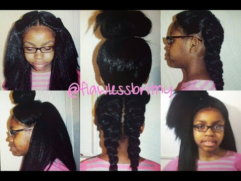 Crochet braids with undercut using Marley hair!