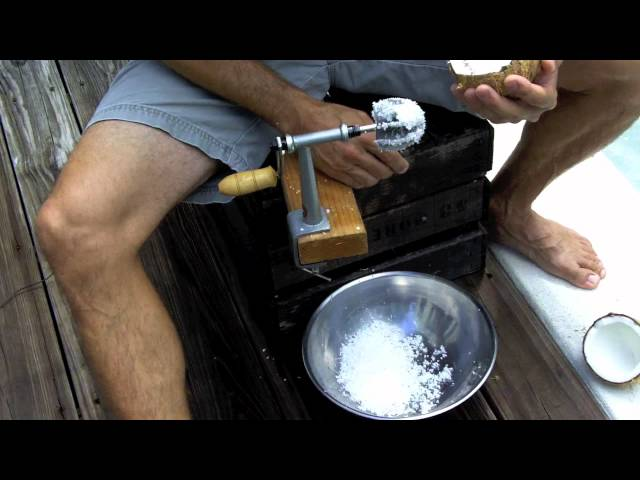 How to Grate or Shred Fresh Coconuts