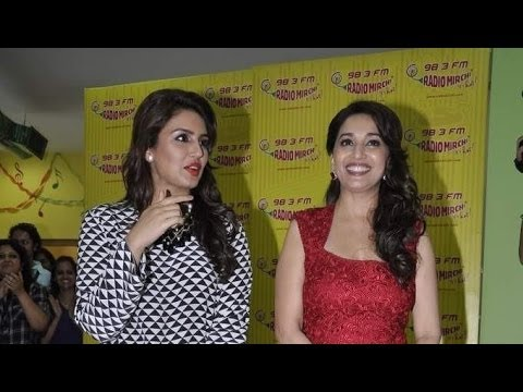 Madhuri And Huma Promoting