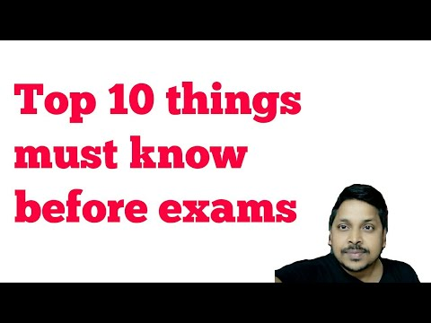 Top 10 things must know before exams    Hindi    gadgets 24*7