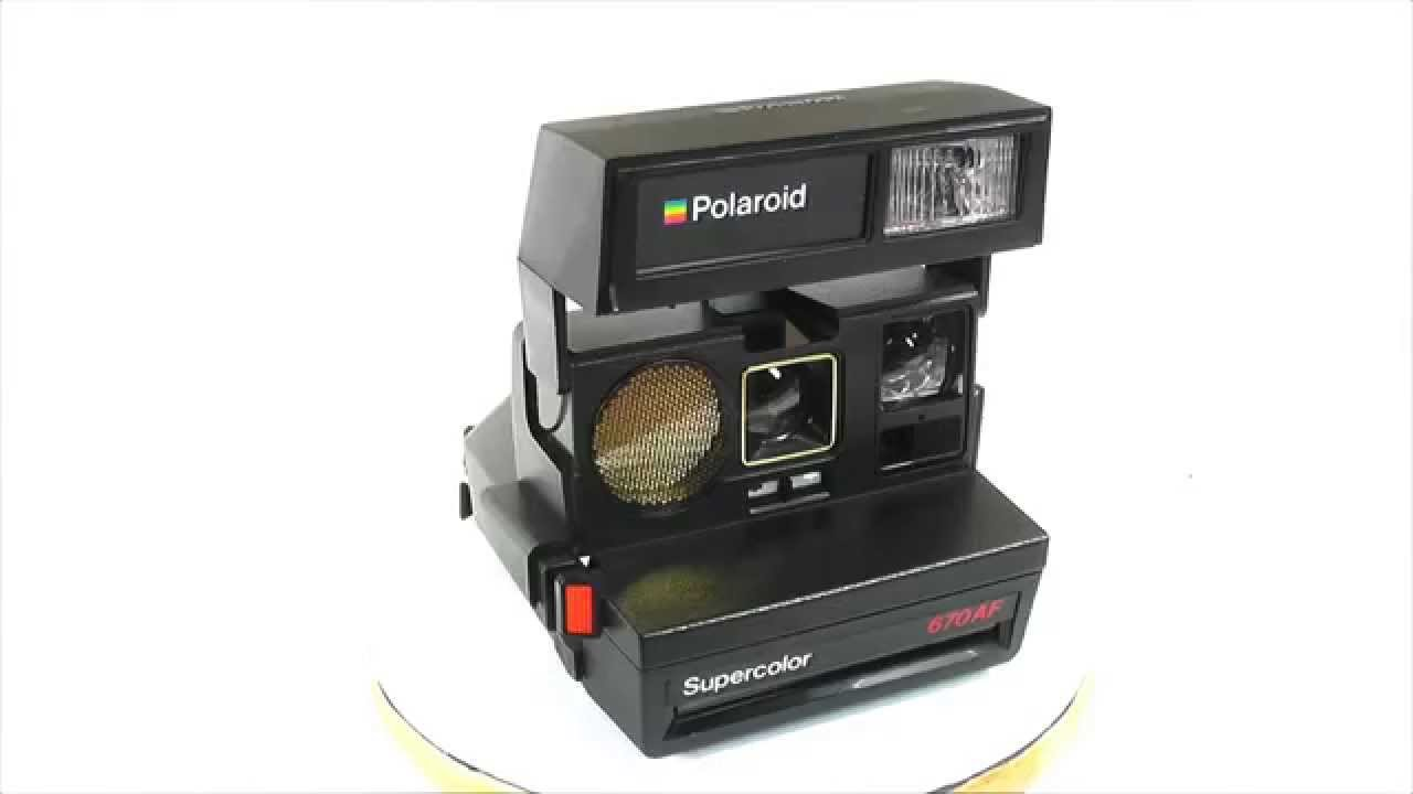polaroid supercolor 670 af youtube. Black Bedroom Furniture Sets. Home Design Ideas