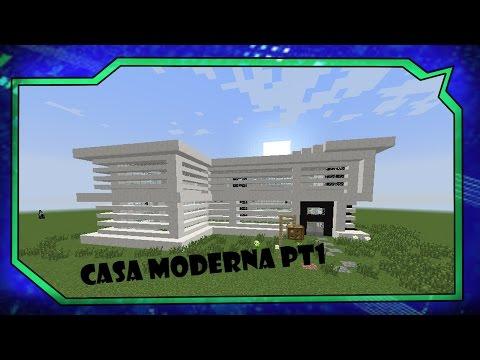 Tutoriais Minecraft: Como Construir a Casa Moderna Pt1