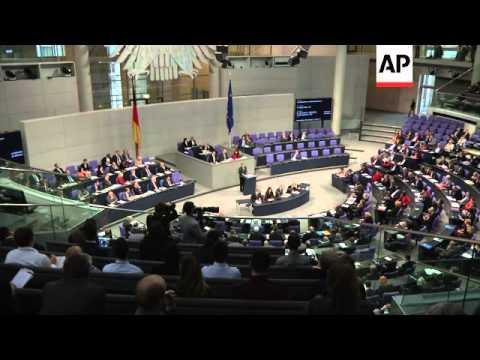 Chancellor comments on Russia sanctions, EU investment plan