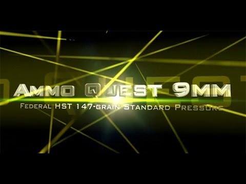 Ammo Quest 9mm: Federal HST 147gr standard pressure test in ballistic gel