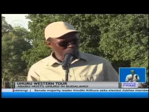 President Uhuru Kenyatta begin his Western tour, landing in Budalangi