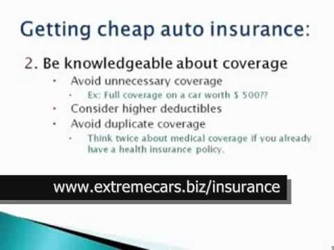 HOW TO FIND CHEAP CAR INSURANCE (AUTO INSURANCE)