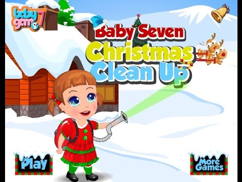 Baby Seven Christmas Clean Up Games For Kids - Gry Dla Dzieci