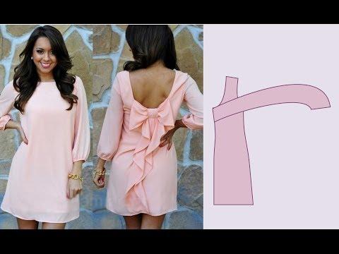 Пошить платье без выкройБант из тонкой лент