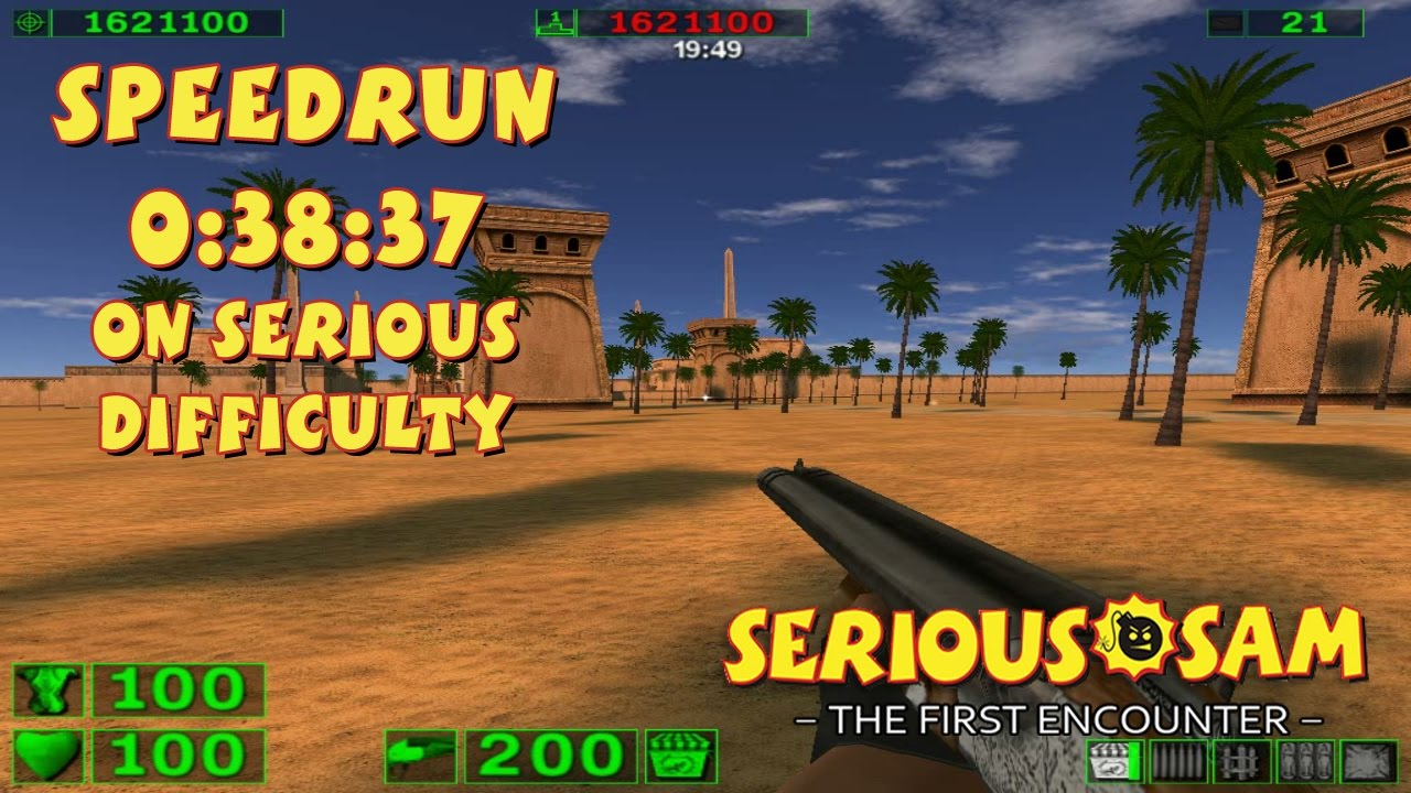 Serious Sam: The First Encounter - SpeedRun - 0:38:37 (Serious Difficulty)