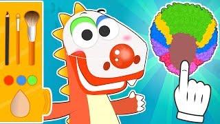 Aprende con Eddie a maquillarte de Payaso 🤡🎊 Eddie el dinosaurio se disfraza de Payaso