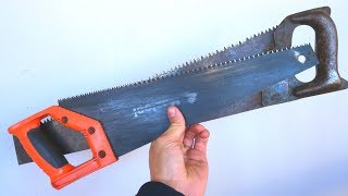 DO NOT THROW AWAY OLD SAWS ON WOOD I Have a Great Idea