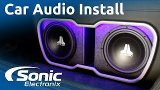 2009 Honda Civic Installation   Full Car Audio System   Custom Enclosure   Sonic Electronix