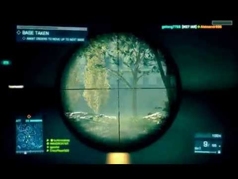 Battlefield 3 Open Beta Gameplay | First Look Recon Class 2 kills 1 minute