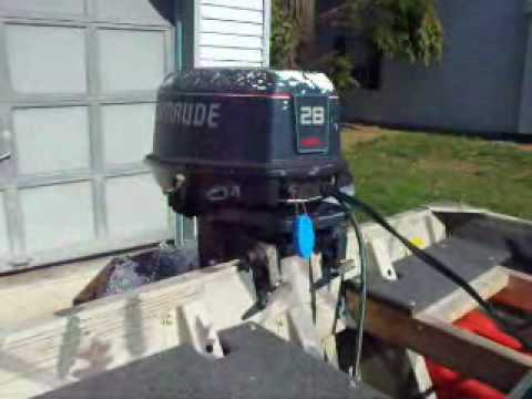 1989 Evinrude 28 Spl Outboard Motor Youtube