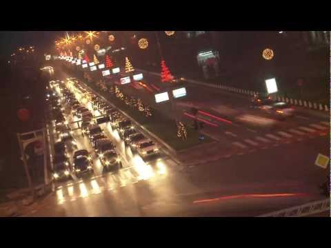 Time Lapse of the busy streets and boulevards of Skopje, Macedonia in 2011. The city's population is roughly 700000 consistently, and is an estimated 100,00...