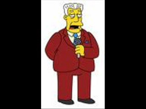 The Simpsons - Kent Brockman - Eye On Springfield Theme Tune Video