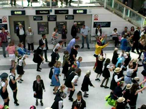 Mark Savin's stag do 2009 - Liverpool Street station - St Trinian's 2: Legend of Fritton's Gold