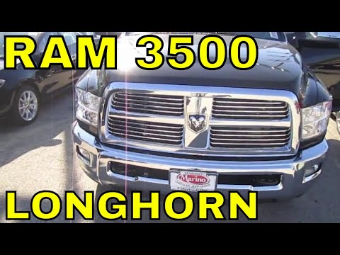 2012 DODGE RAM 3500 LONGHORN Truck Review Engine Start Up