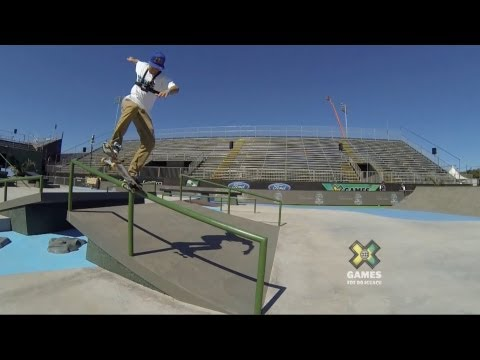 GoPro: Ryan Sheckler Skateboard Street Course Preview - Summer X Games 2013 Foz Do Iguacu