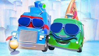 Video xe tải cho trẻ em - Xe tải chiếu tia đông lạnh - Thành phố xe 🚗 những bộ phim hoạt hình về